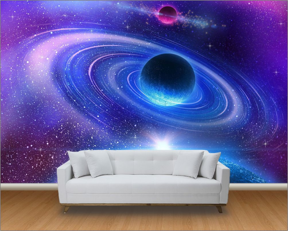 Papel de parede 3d universo m 0001 no elo7 paredes decoradas 8123bf - Papel pared 3d ...