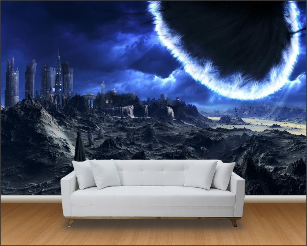 Papel de parede 3d universo m 0002 no elo7 paredes decoradas 8123ca - Papel pared 3d ...