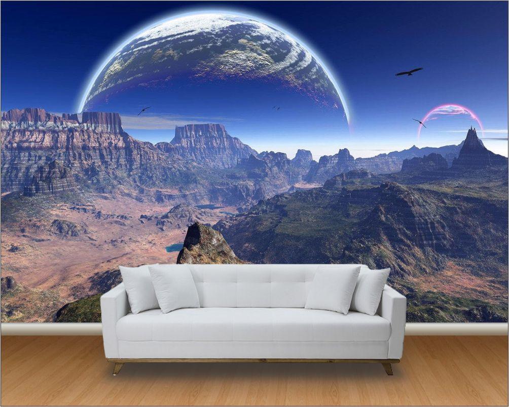 Papel de parede 3d universo m 0006 no elo7 paredes - Papel decorado para paredes ...