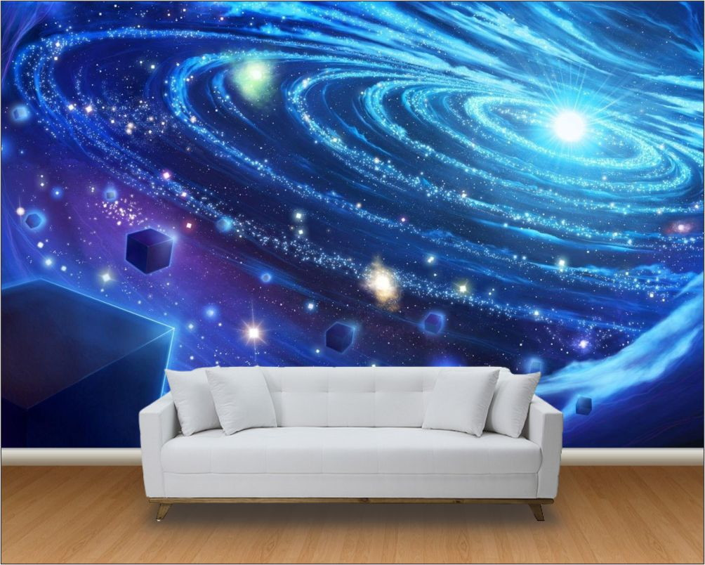 Papel de parede 3d universo m 0010 no elo7 paredes decoradas 812410 - Papel pared 3d ...
