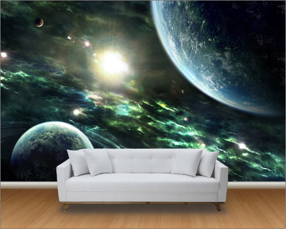 Papel de parede 3d universo m 0012 no elo7 paredes decoradas 812421 - Papel pared 3d ...