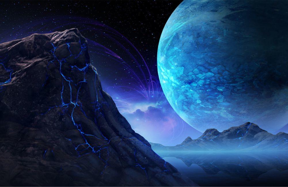 Papel De Parede 3d Universo (M²) 0016