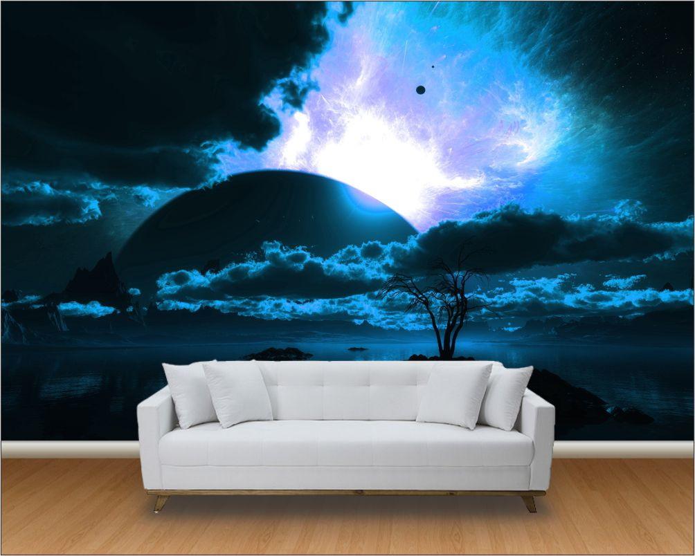 Papel de parede 3d universo m 0018 no elo7 paredes for Papel pintado para paredes 3d