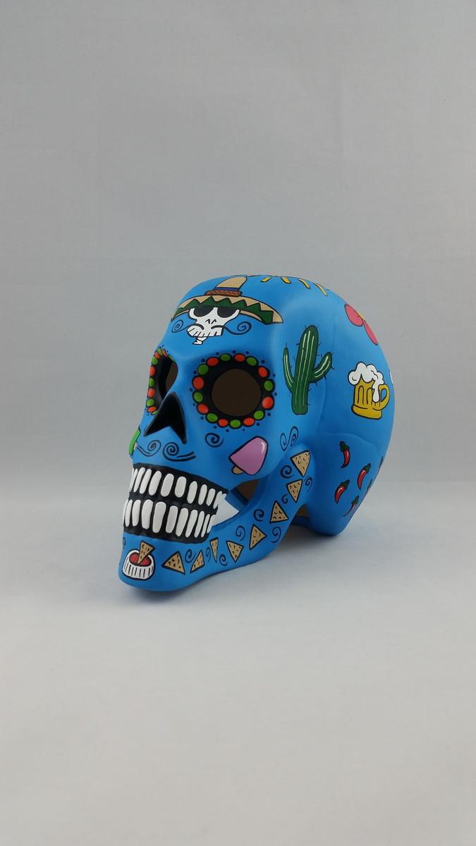 Crânio Cav Mex Azul Celeste Vazada no Elo7  05184452e34