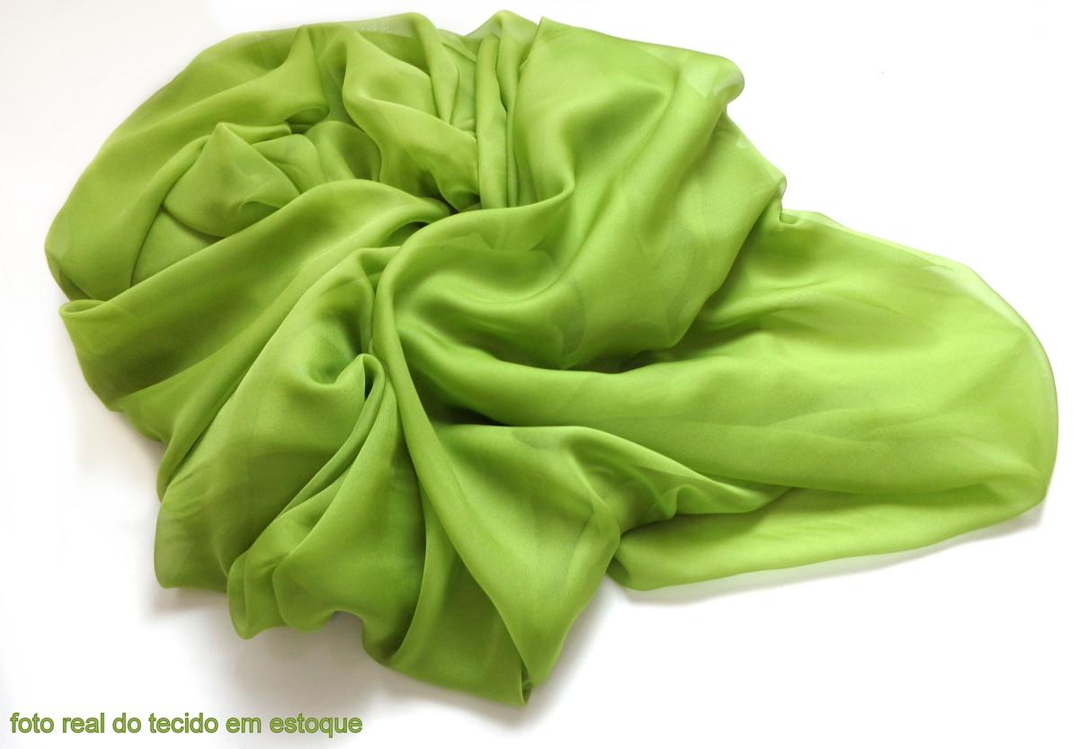 6af13af2e35b Echarpe Festa Seda Verde Abacate Transparente no Elo7   CASULO DOS ...