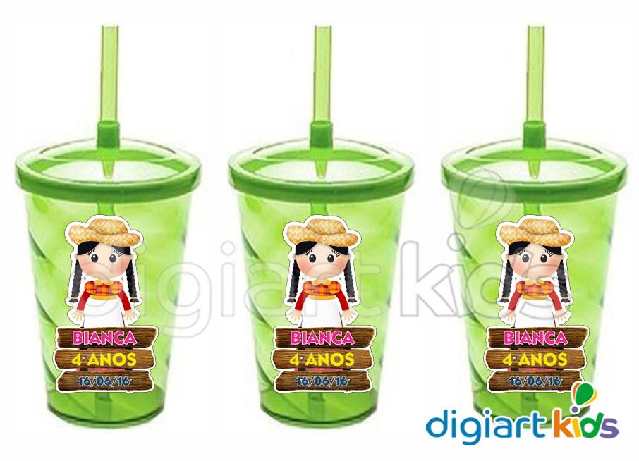 Onde Colocar Aparador Na Sala ~ Adesivo para Copo Twister Festa Junina DigiArt Kids Elo7