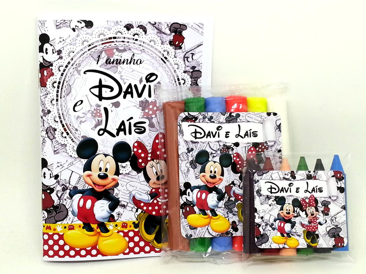Baby Kit Colorir E Modelar Mickey E Minnie No Elo7 Personalle