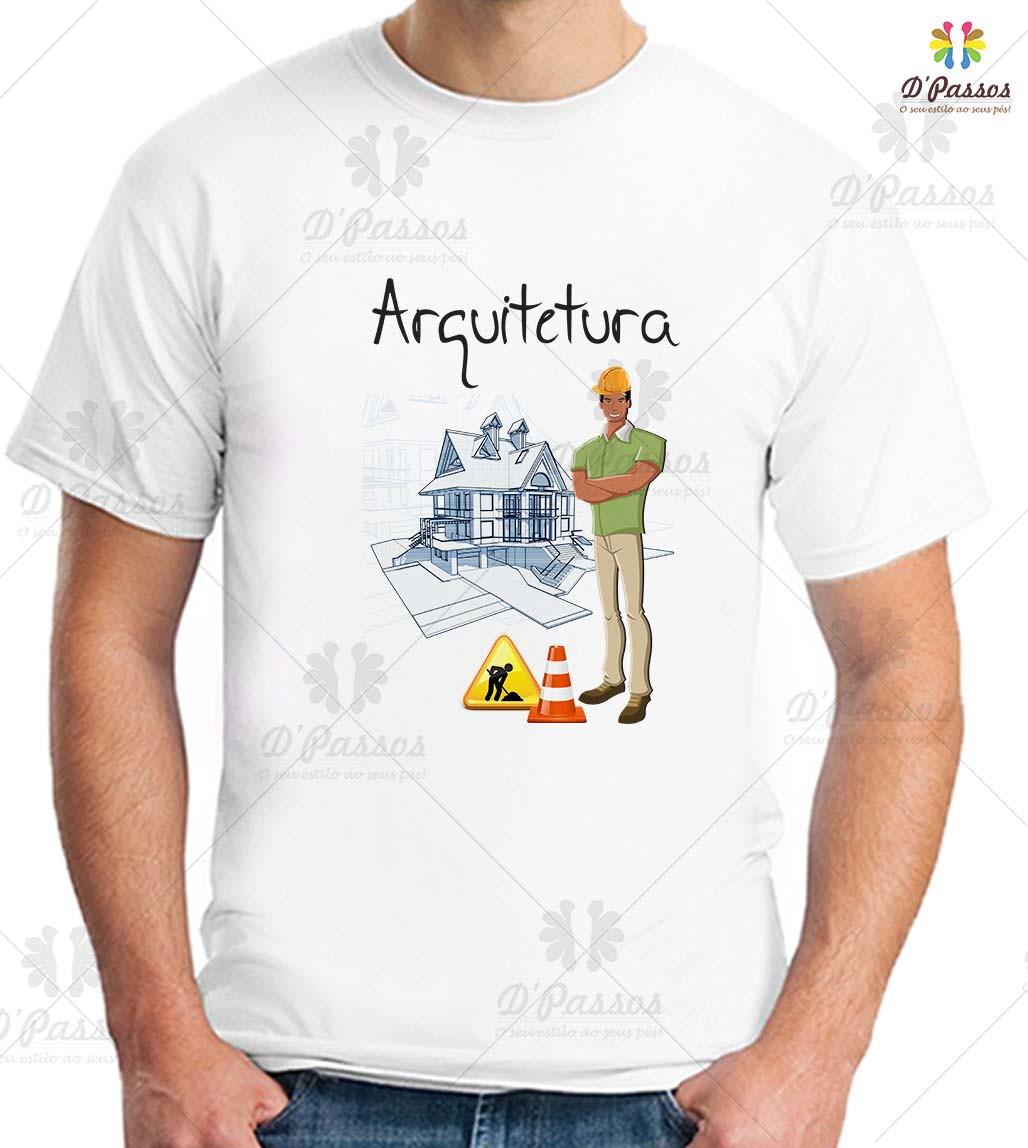 da7aa39bb0f07 Camiseta Masculina - Arquitetura no Elo7