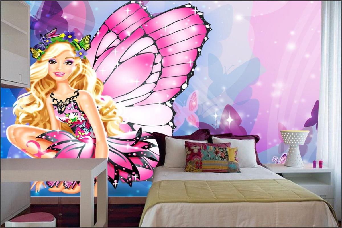 Papel de parede 3d barbie m 0009 no elo7 paredes decoradas 817a0a - Papel para paredes baratos ...