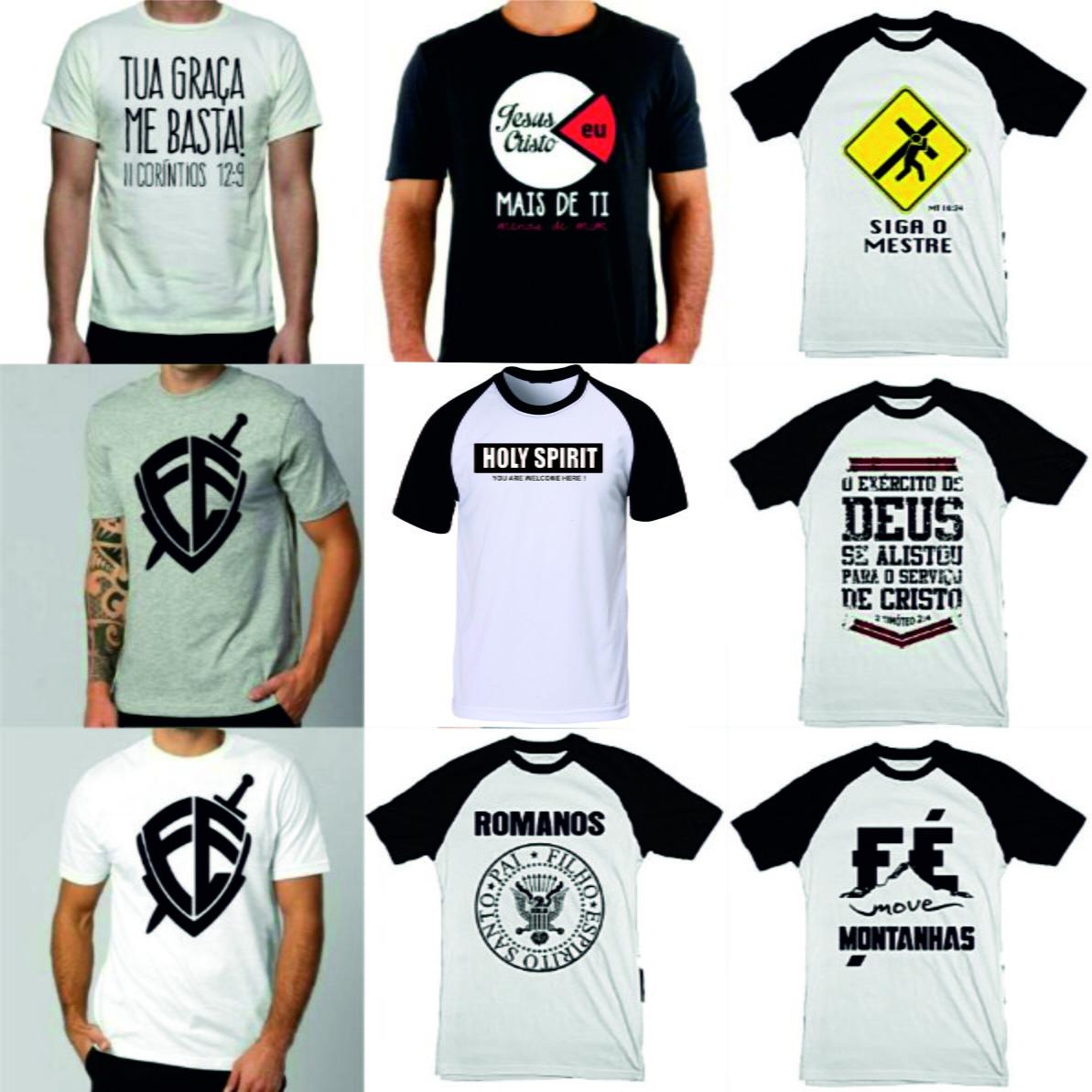 Camisetas Gospel Frases Kit 4 unidades no Elo7  29a1da11849f6