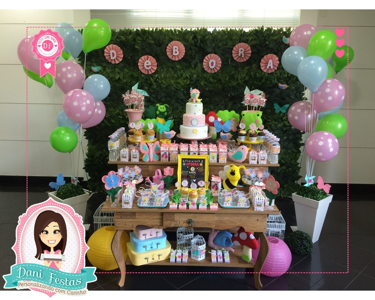 Decoraç u00e3o Para Festa Jardim Encantado no Elo7 Dani Festas Personalizadas (81BEF6)