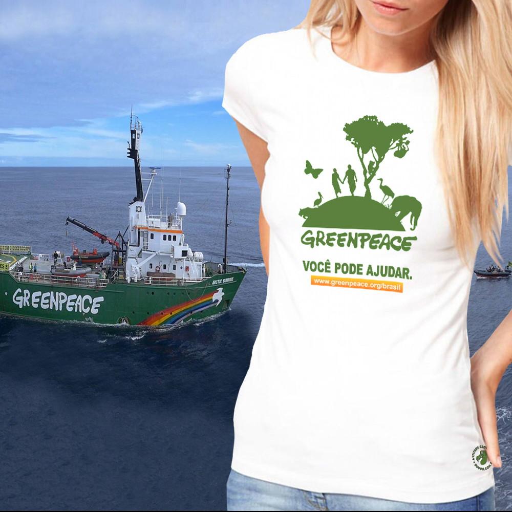 Camiseta Feminina Greenpeace no Elo7  7bf92cdb96e3b