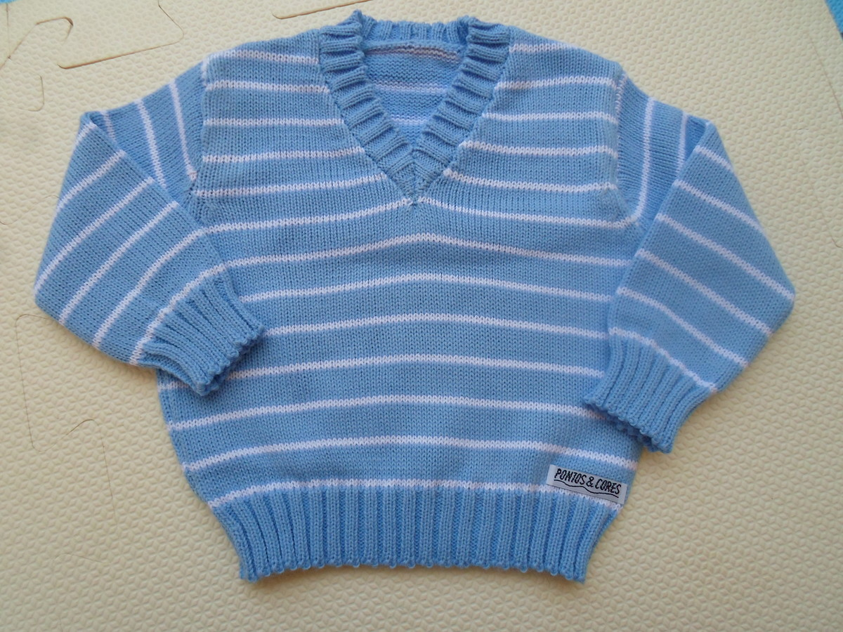 BLUSA GOLA V BABY IN BLUE no Elo7  249faddc561a3