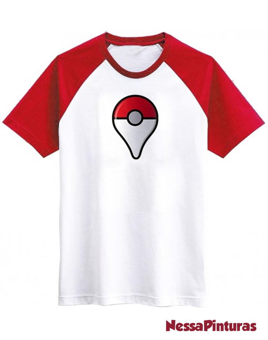 08aefe3f62 Camiseta raglan Pokémon GO no Elo7