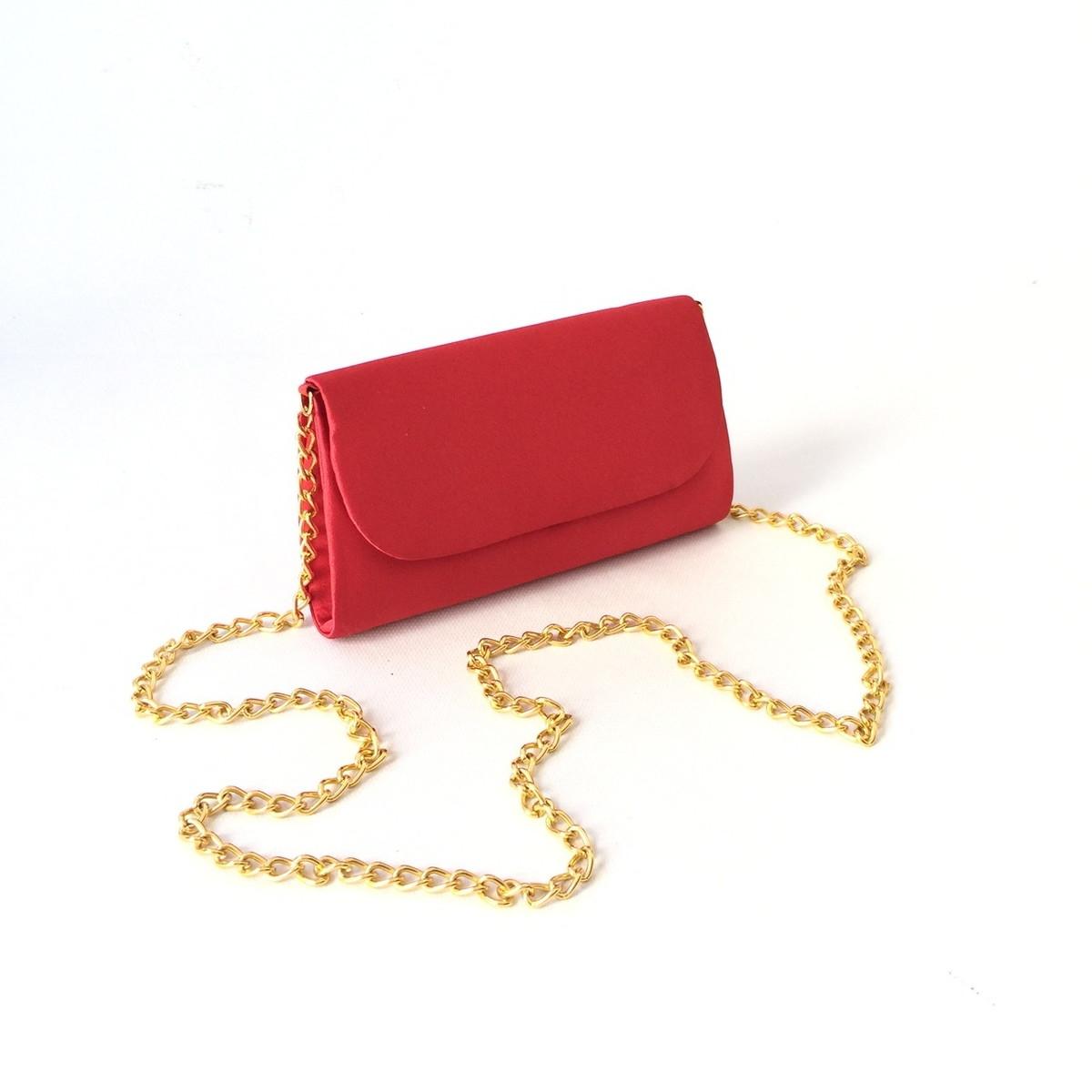 c45d7dc72 Bolsa Vermelha Cetim Corrente Ouro no Elo7 | PATRICIA HENRIQUES (8227FD)