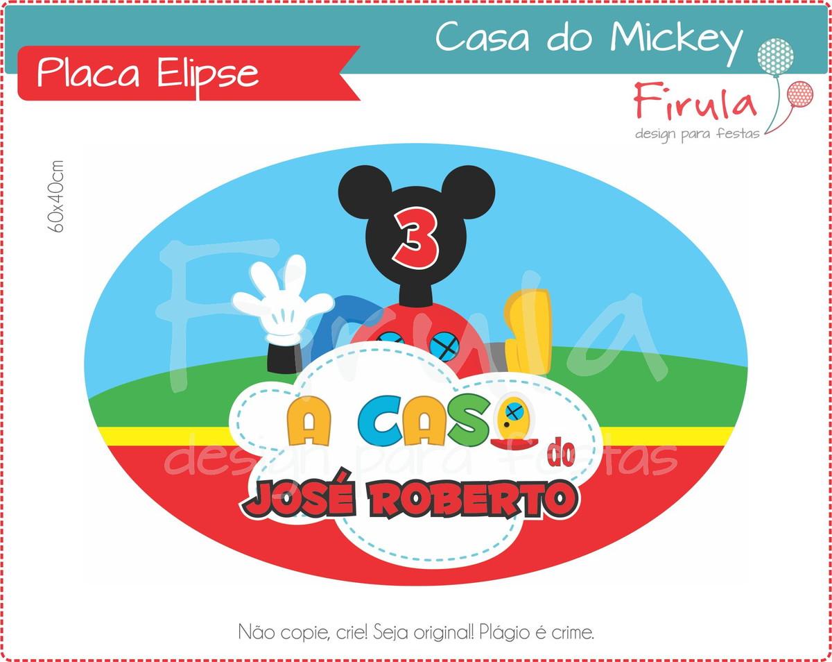 Placa Elipse Digital Casa do Mickey no Elo7  4fd62ce78e08f