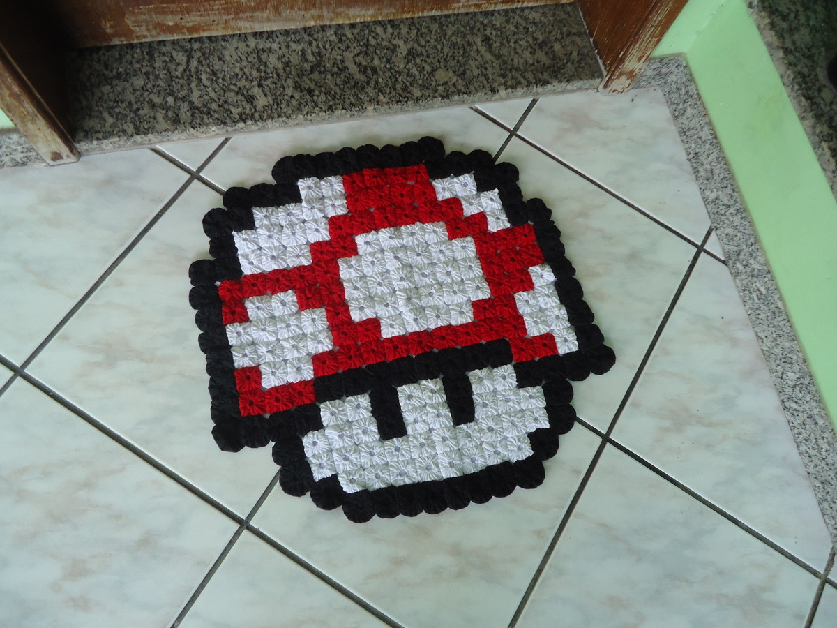 Cogumelo Super Mario Tapete infantil de Fuxicos