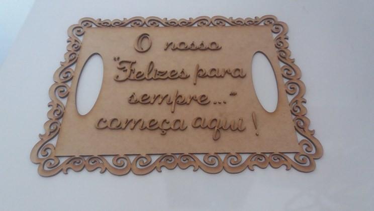 Placa Casamento Frases