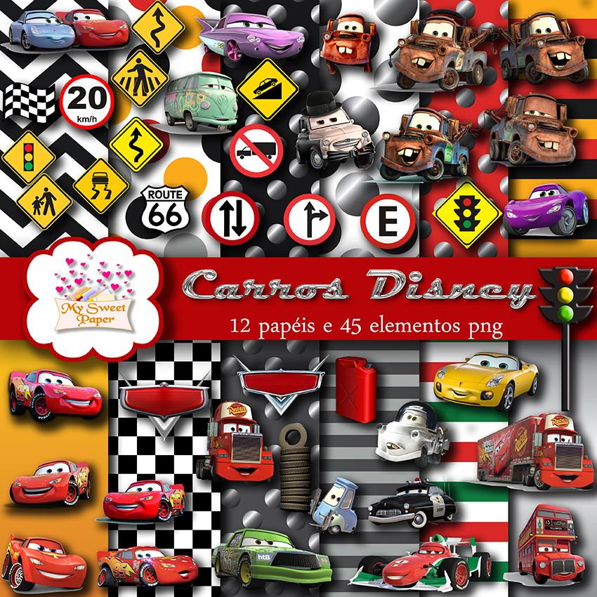 f485faec5f Kit digital Carros Disney no Elo7
