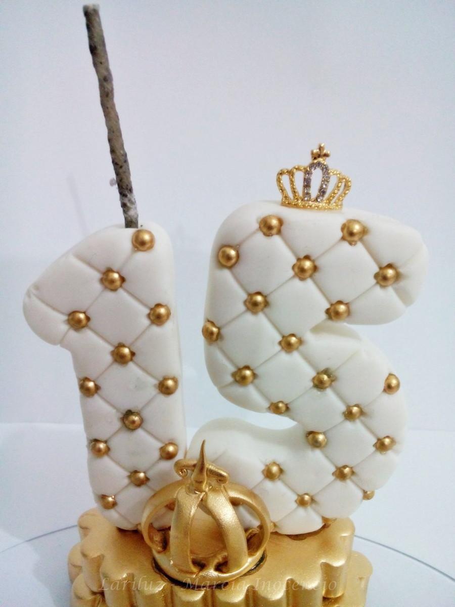 Vela Personalizada De Oro Aniversario de Bodas Velas Talladas A Mano De 8 Pulgadas//20cm
