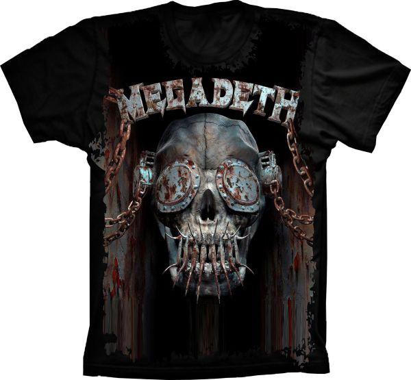 dc9086fdb1b4f Camiseta Megadeth Vic Rattlehead Dystopi no Elo7