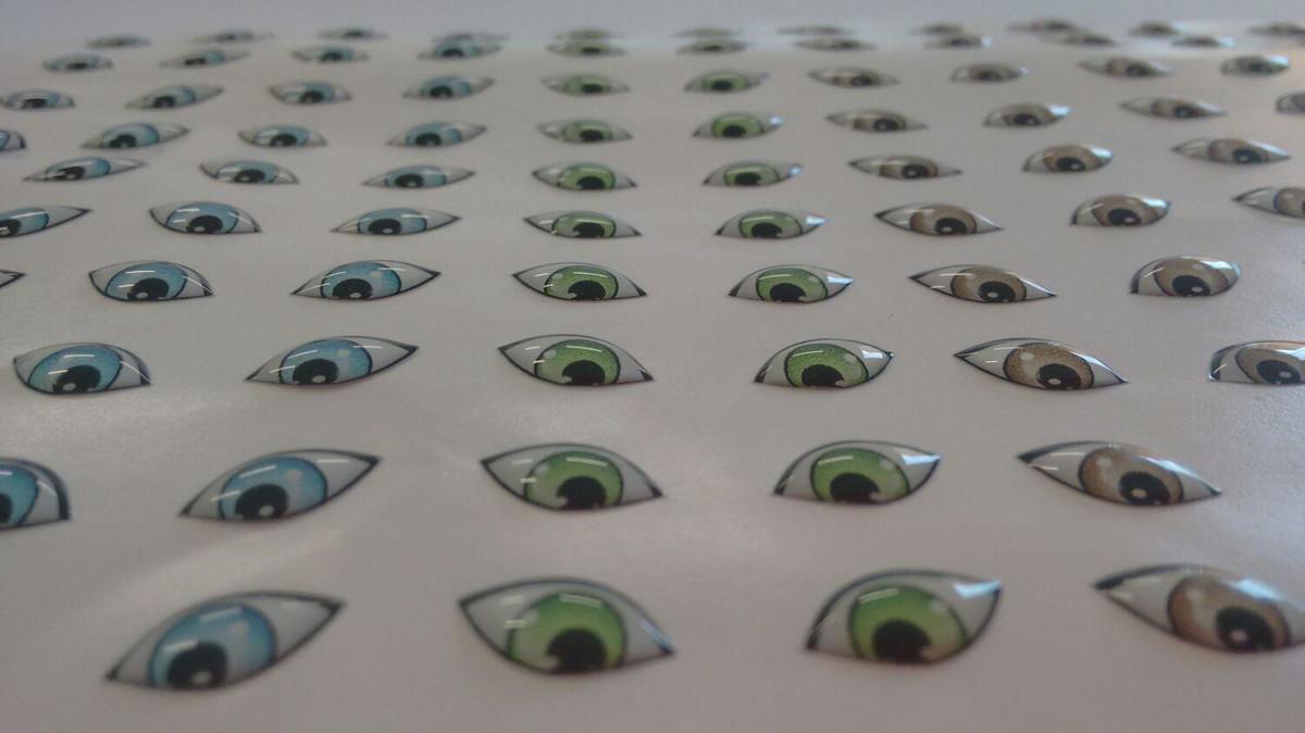 Adesivo Gato De Botas ~ Adesivo de olhos Resinados 247 M Monicarts Elo7