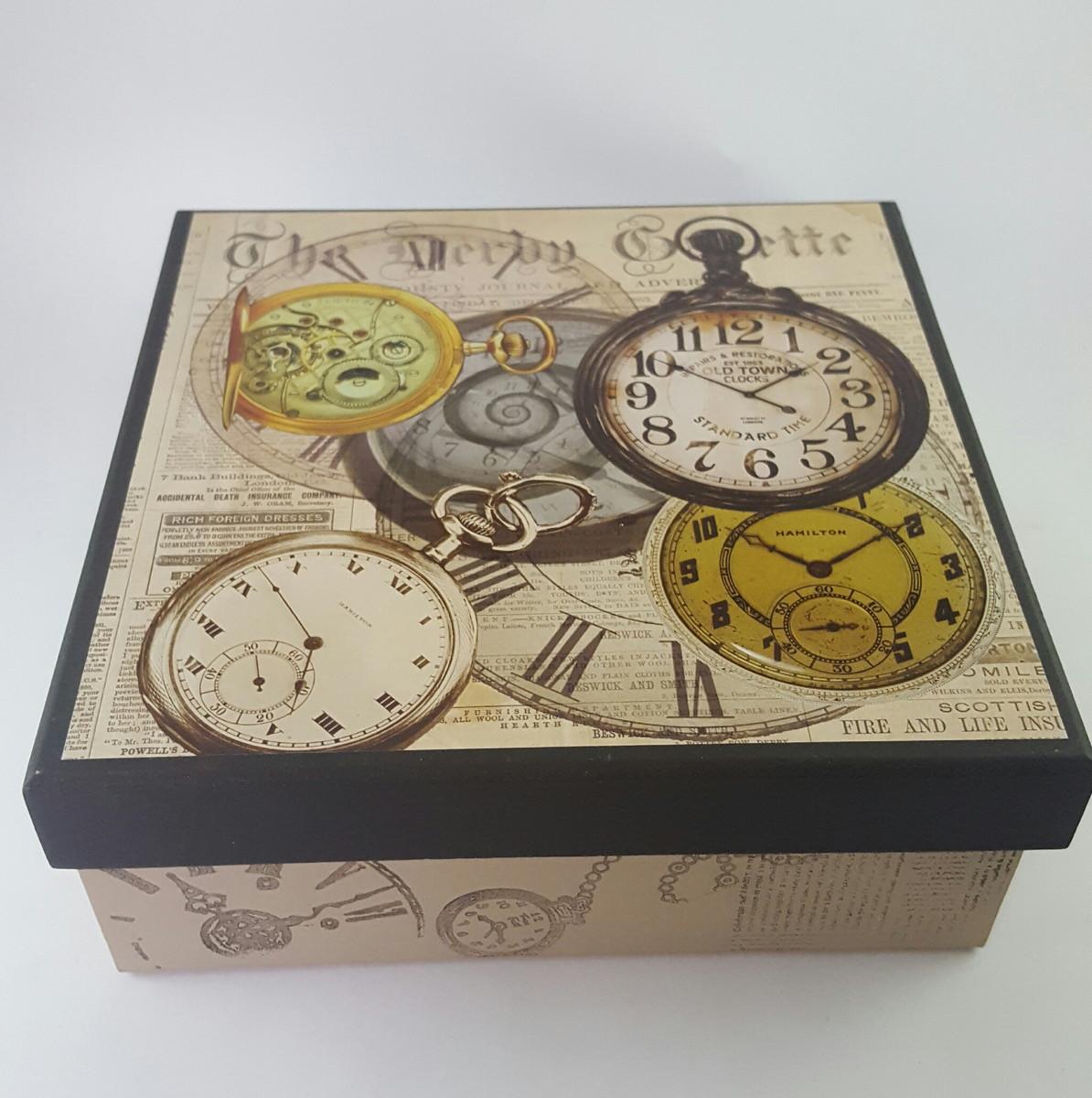 b16e2a4e6a1 Caixa Multiuso Relógio no Elo7
