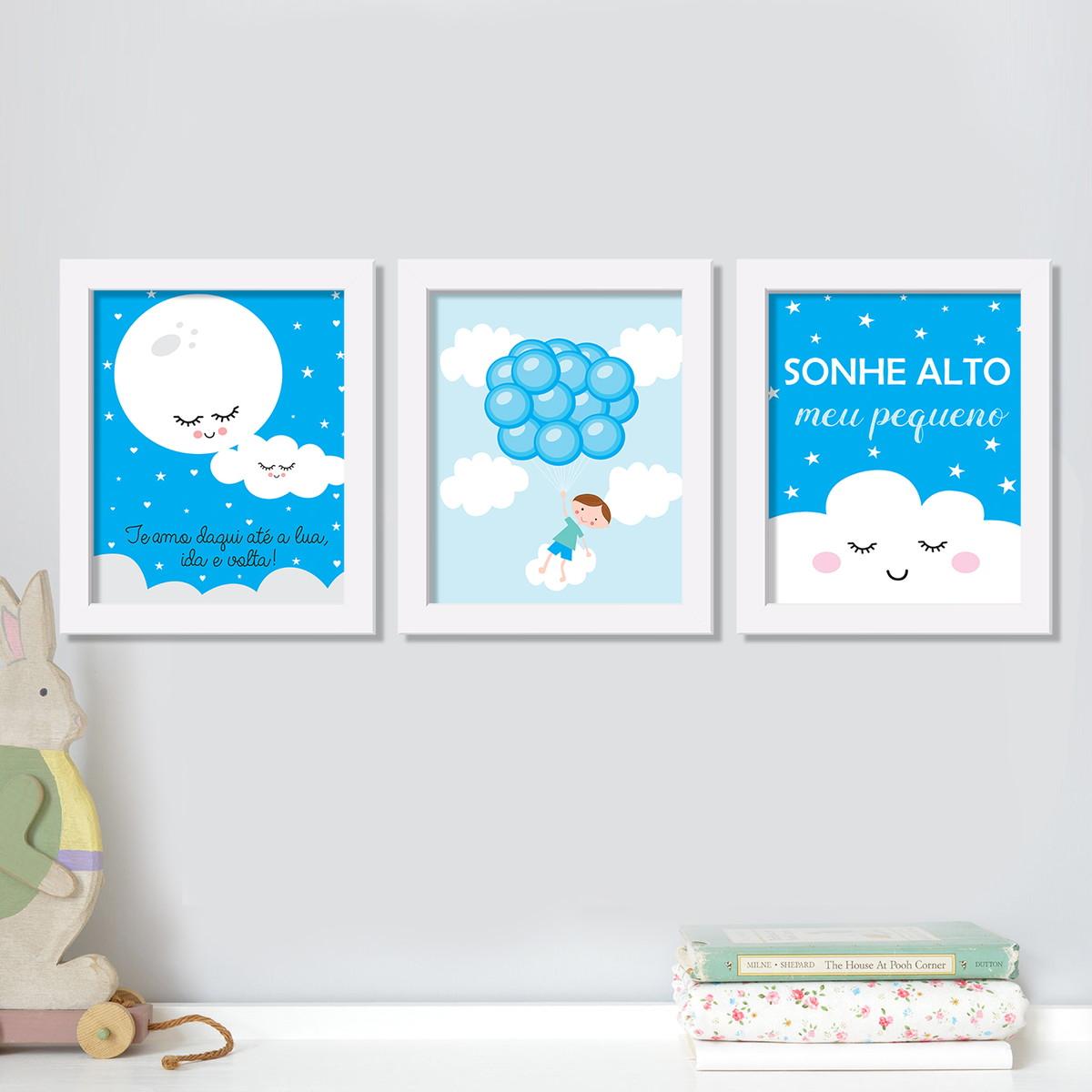 Trio De Quadros Quarto Menino Bal Es Est Dio Ame Elo7 ~ Desenhos Para Quarto Infantil E Foto De Quarto De Menino