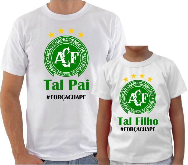 0f89ce1793 Camiseta Chapecoense Força Chape no Elo7