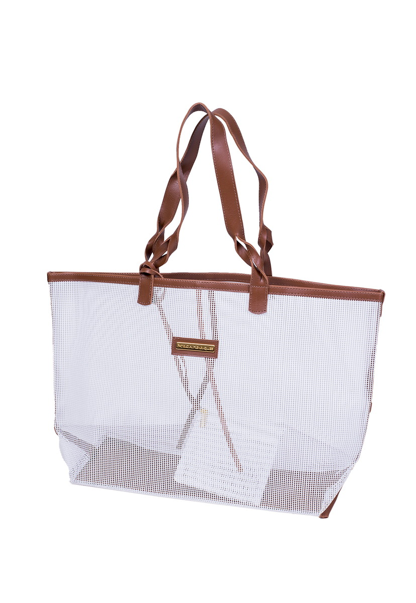 c0cd88ff5 Bolsa de praia branca tela dupla no Elo7 | PATRICIA HENRIQUES (838B55)