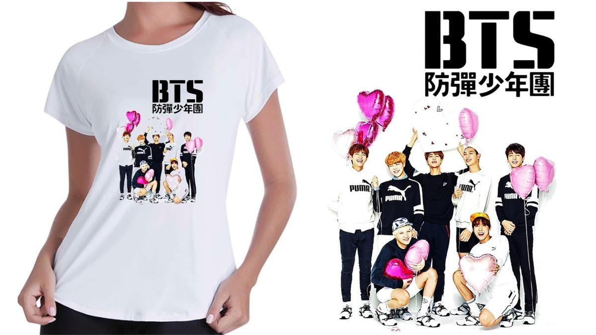 f4192056da Camiseta Baby Look Bagtan Boys BTS Kpop no Elo7