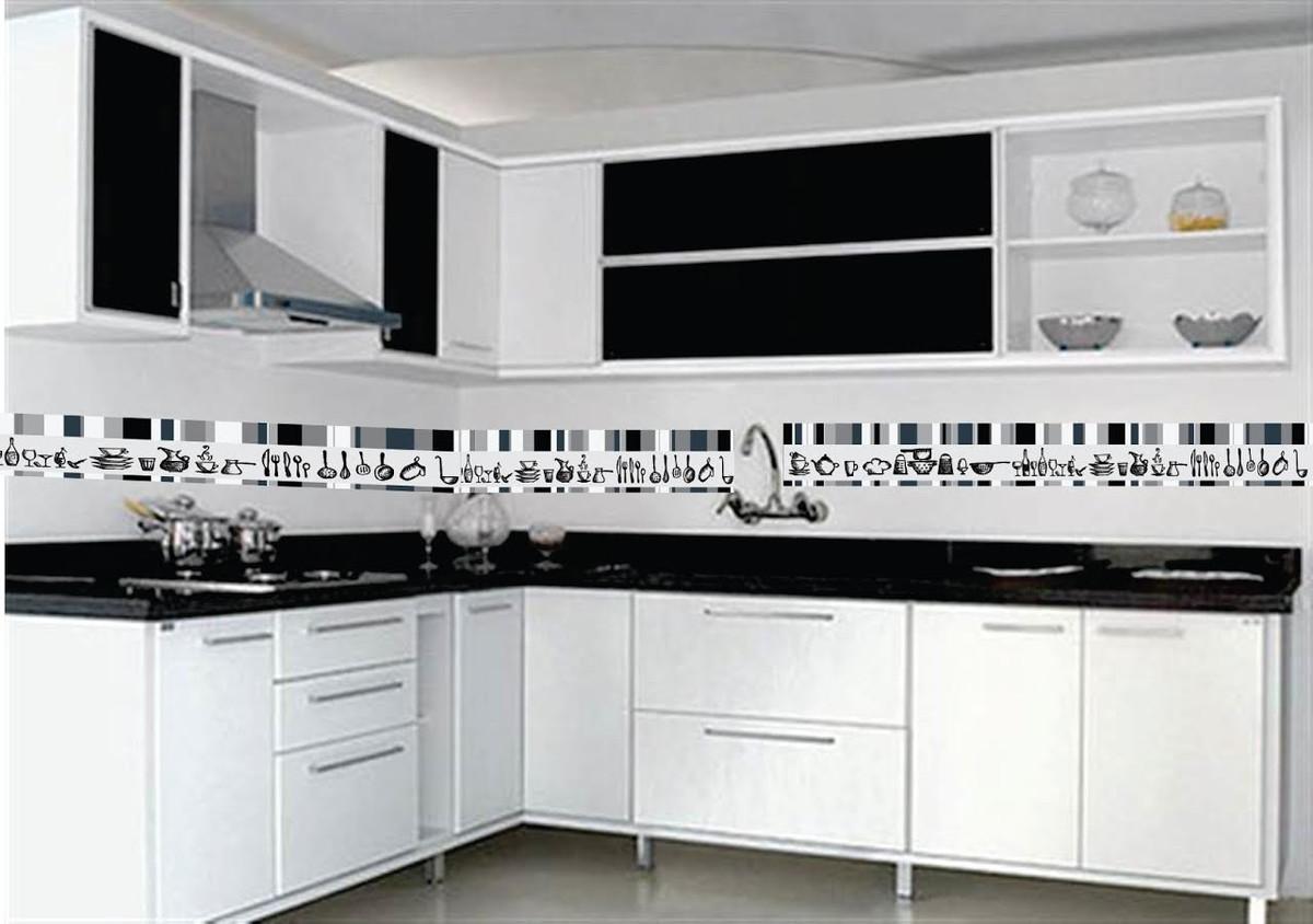 Faixa Para Cozinha Modelo Untensilios No Elo7 Aarte Decoor 83c314