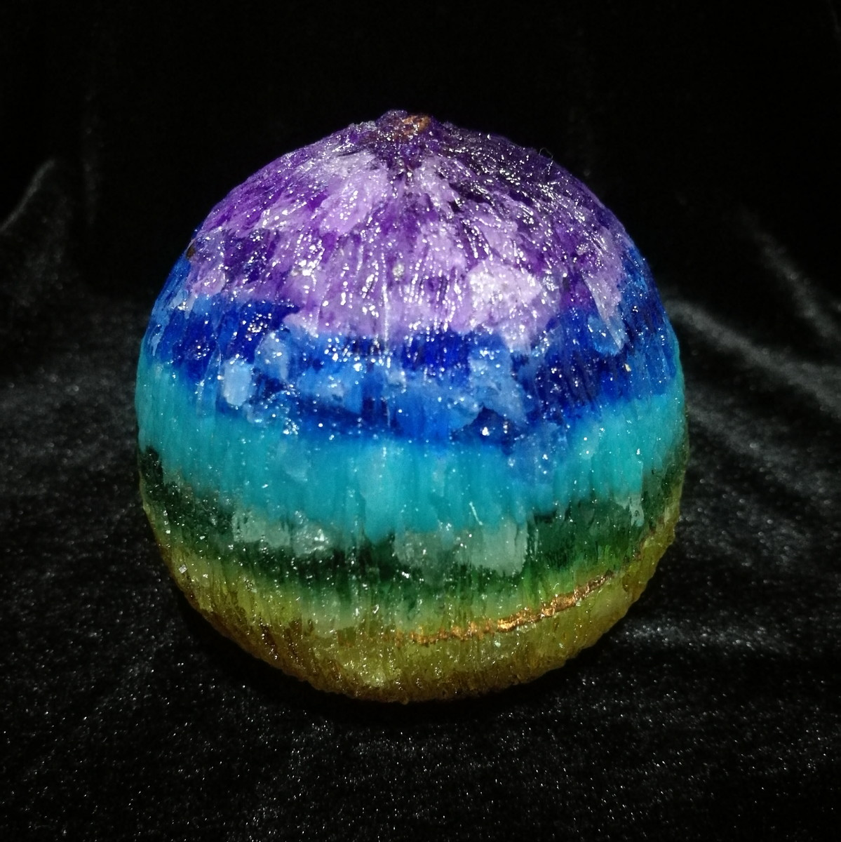 Orgonite esfera de energia 7 chakras piatra natural elo7 for Feng shui energia positiva