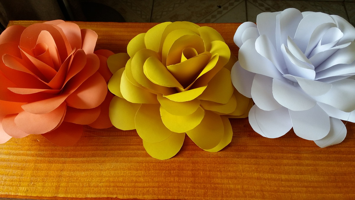 Kit 10 Flores Gigantes De Papel 18 A 20 Cm