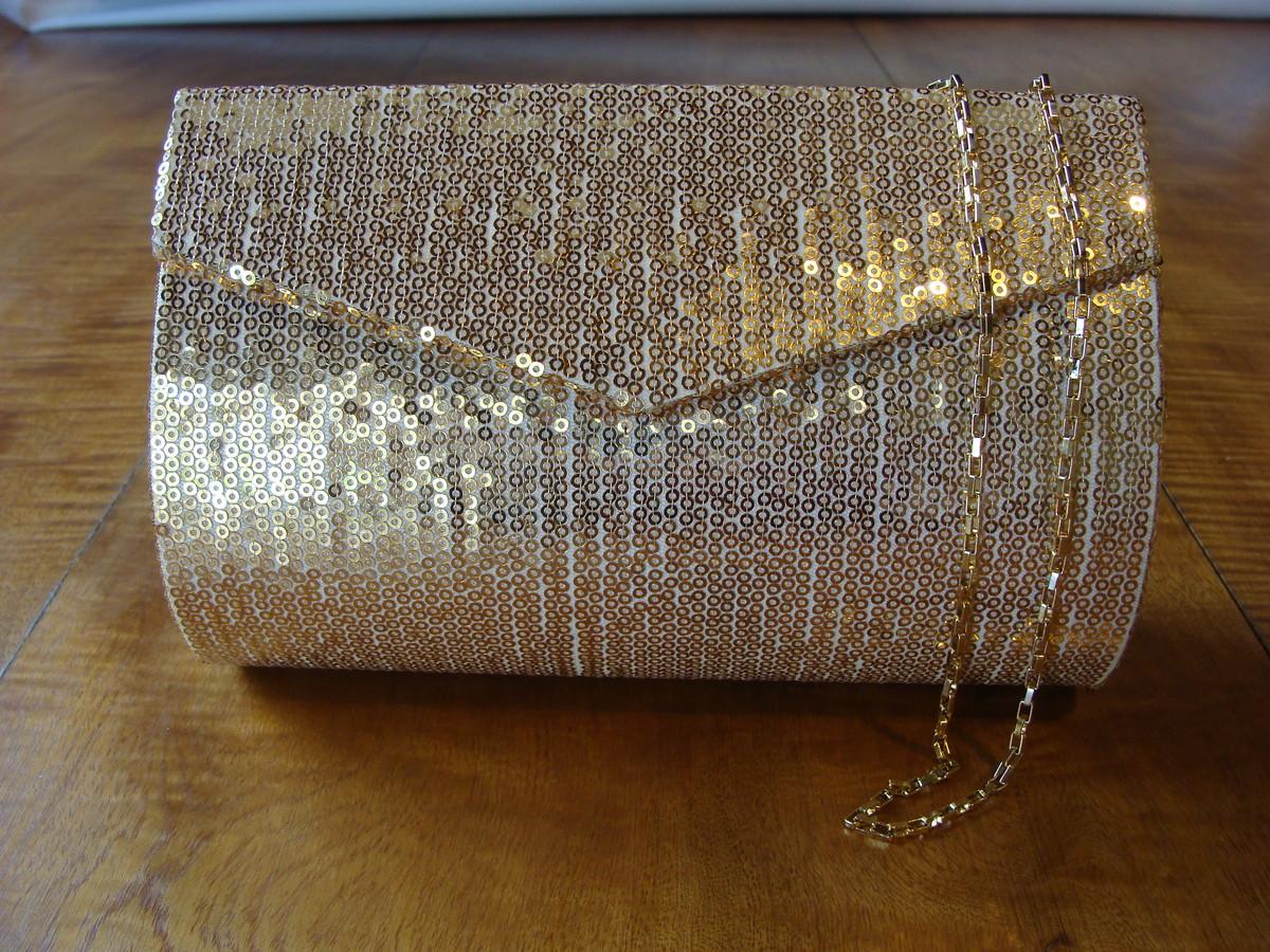 8024cf7c9 Bolsa Brilho: Dourada Ref 437 no Elo7 | Bolsas Festa / Social ...