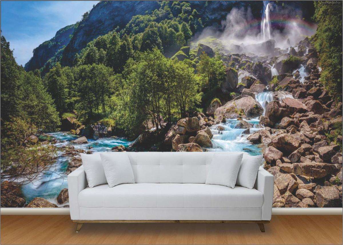 Papel de parede 3d cachoeira m 0002 no elo7 paredes - Papel autoadhesivo para paredes ...