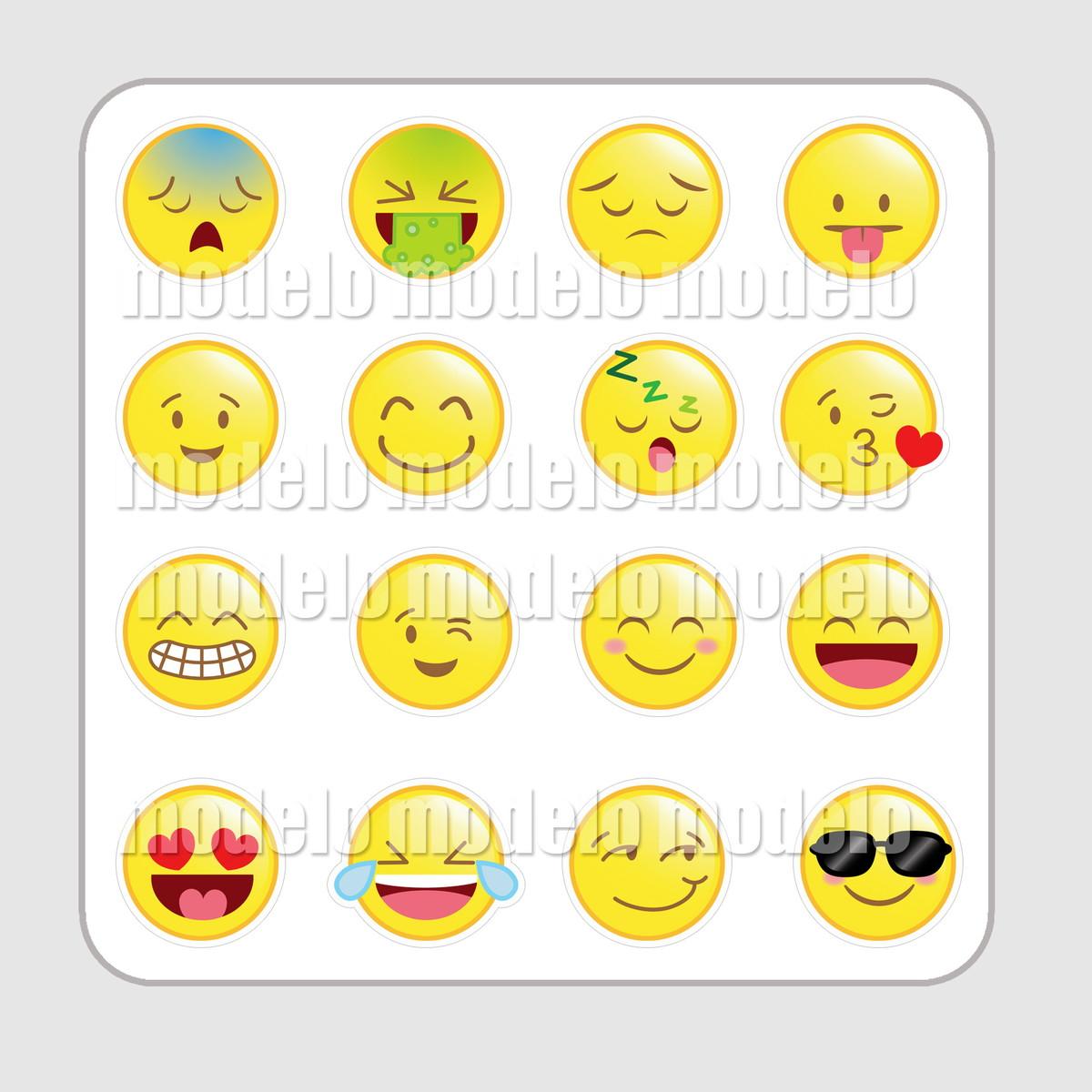 Aparador Azul Turquesa Mdf ~ Cartela de adesivos Emoji Léa foto e arte Elo7