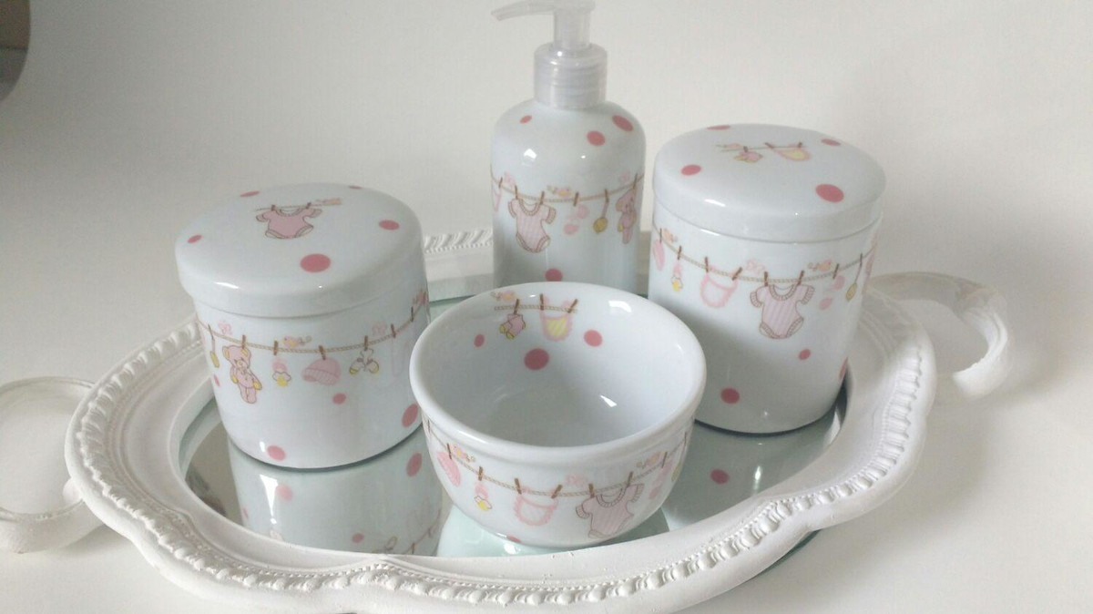 kit higiene bebe porcelana