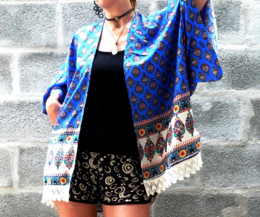 17c656c08a Comprar Kimono Feminino Moda Franja no Elo7