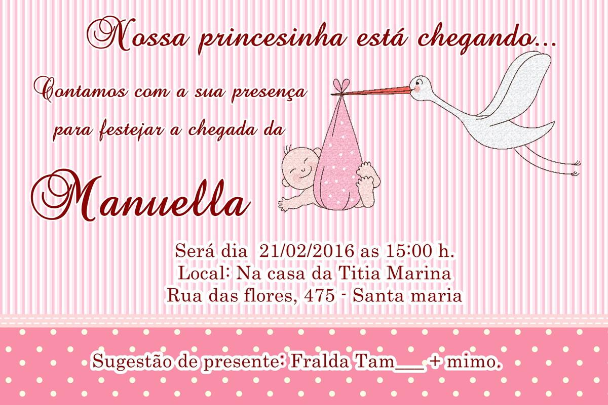 Convite Chá De Bebe Cegonha No Elo7 Acriativa Presentes 7cf1eb