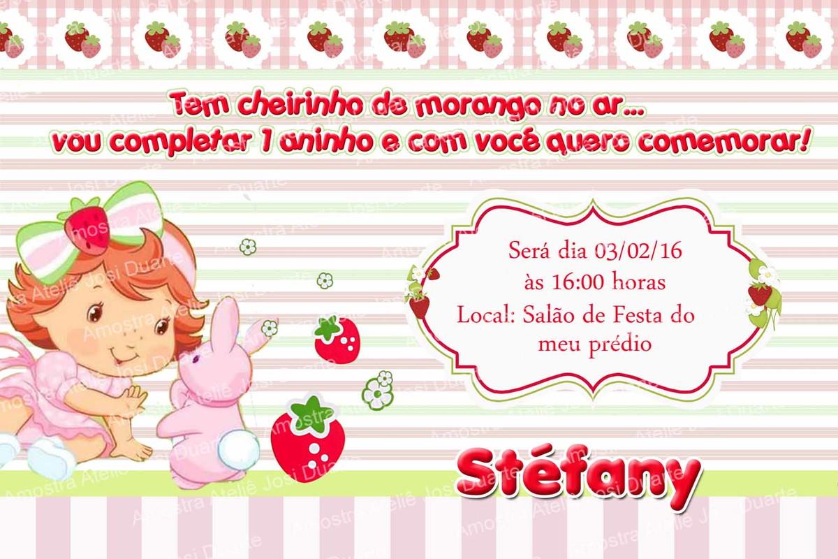 Convite Moranguinho Baby No Elo7 Loja Criativa Presentes