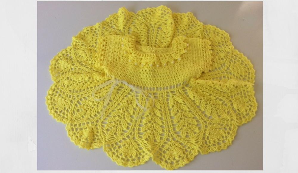 fb921095f Vestido Amarelo em Crochê no Elo7 | Atelie Marcia Jek (84D818)