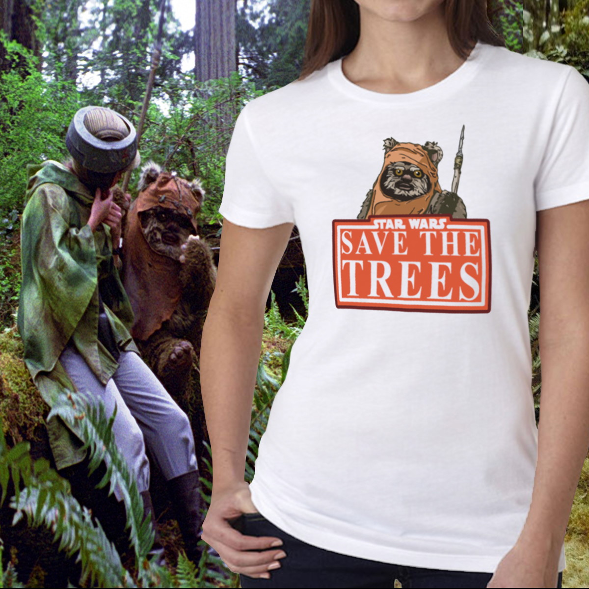 Camiseta Feminina Star Wars - Eco Ewoks no Elo7  01045986d9c7a