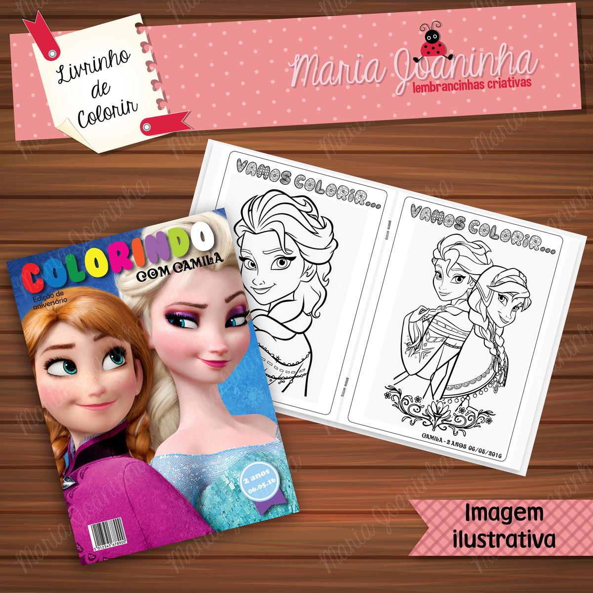 Livro De Pintar Frozen No Elo7 Maria Joaninha 84e824