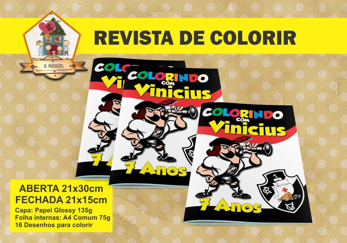 Revista Para Colorir Vasco No Elo7 Jk Producoes 698df0
