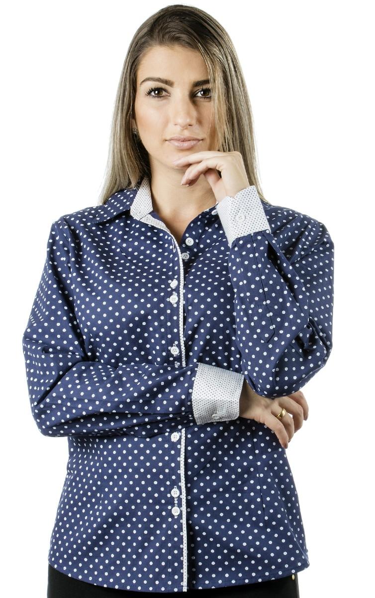 Camisa Feminina Poá Annie - Pimenta Rosa no Elo7  b18e841c29b51