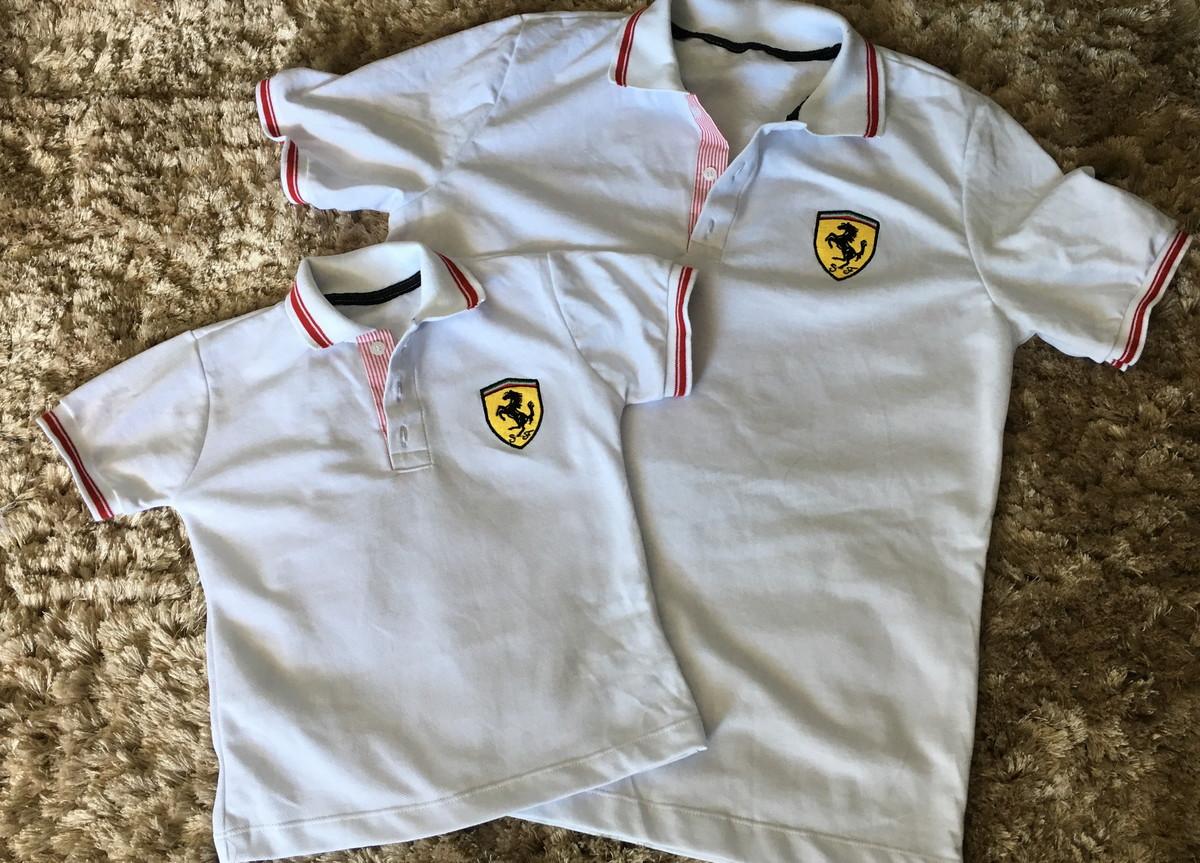 68d9ef944a Tal Pai Tal Filho Camisa Ferrari Branca no Elo7