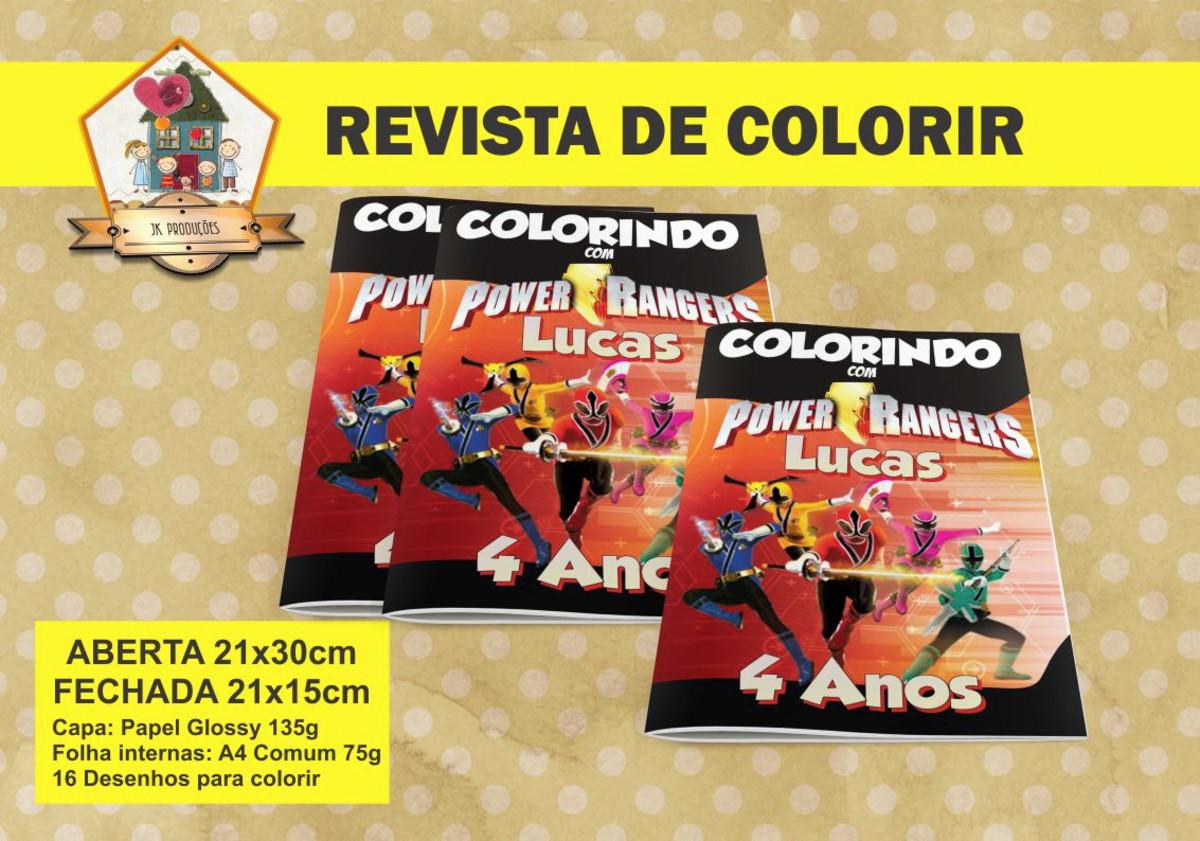 Revista Colorir POWER RANGERS SAMURAI No Elo7