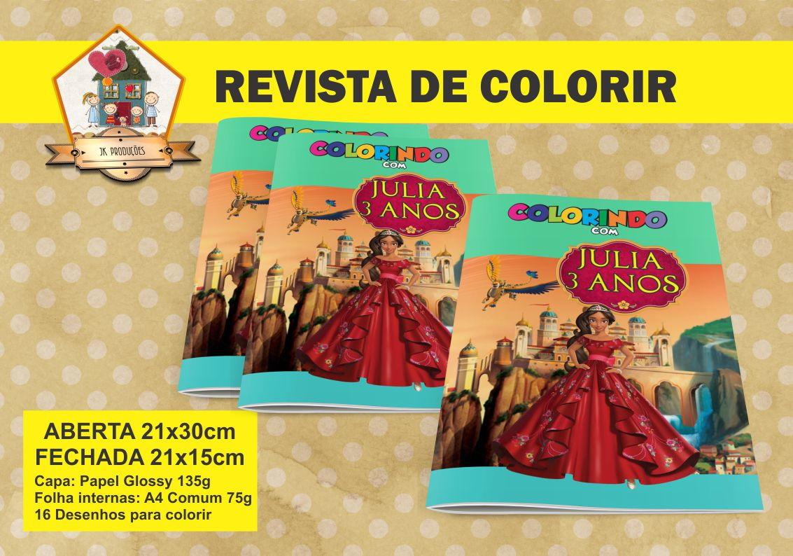 Revista Para Colorir Elena De Avalor No Elo7 Jk Producoes 85569b