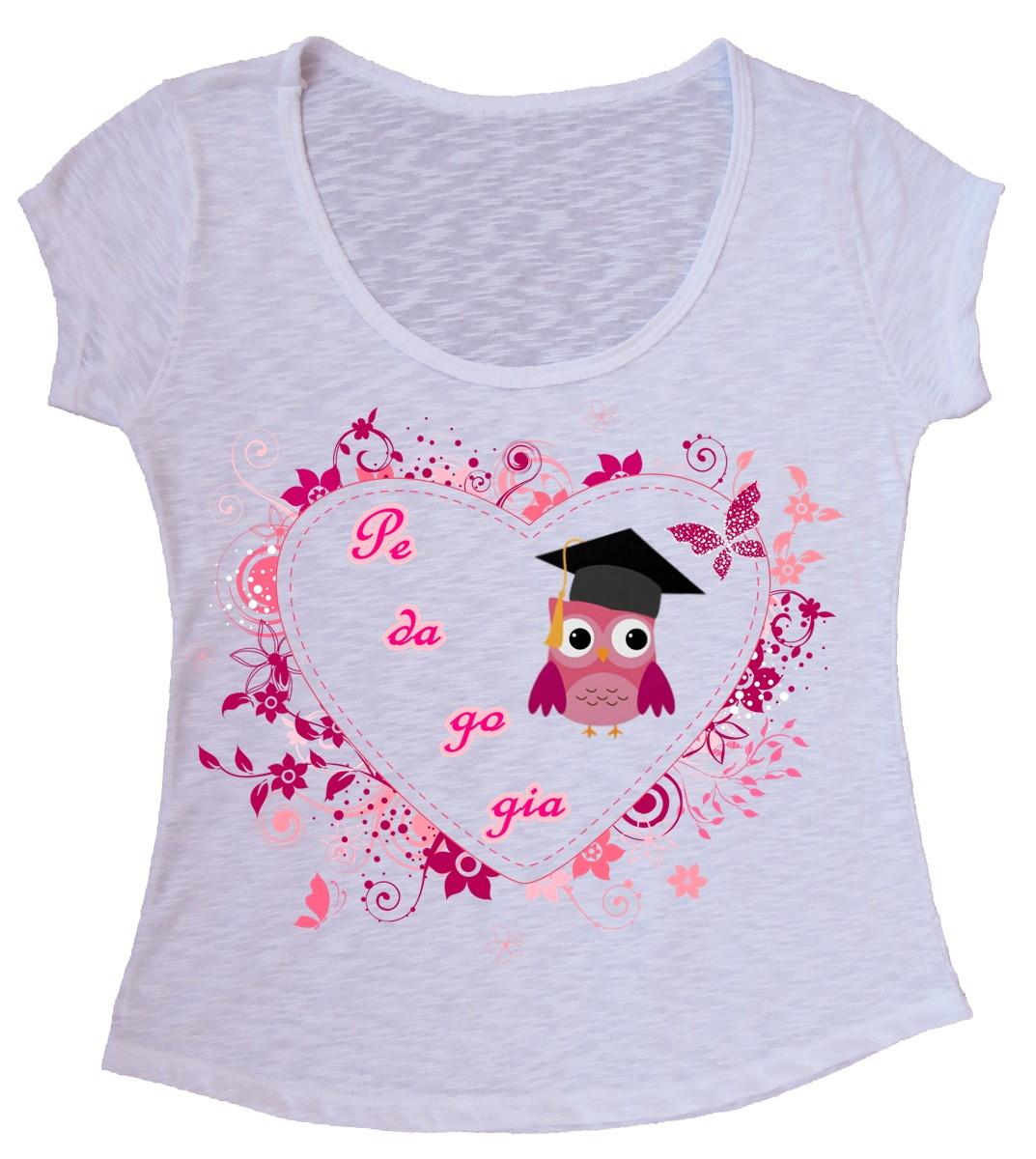 b5c1f80655 Blusa T-shirt Pedagogia Personalizada no Elo7